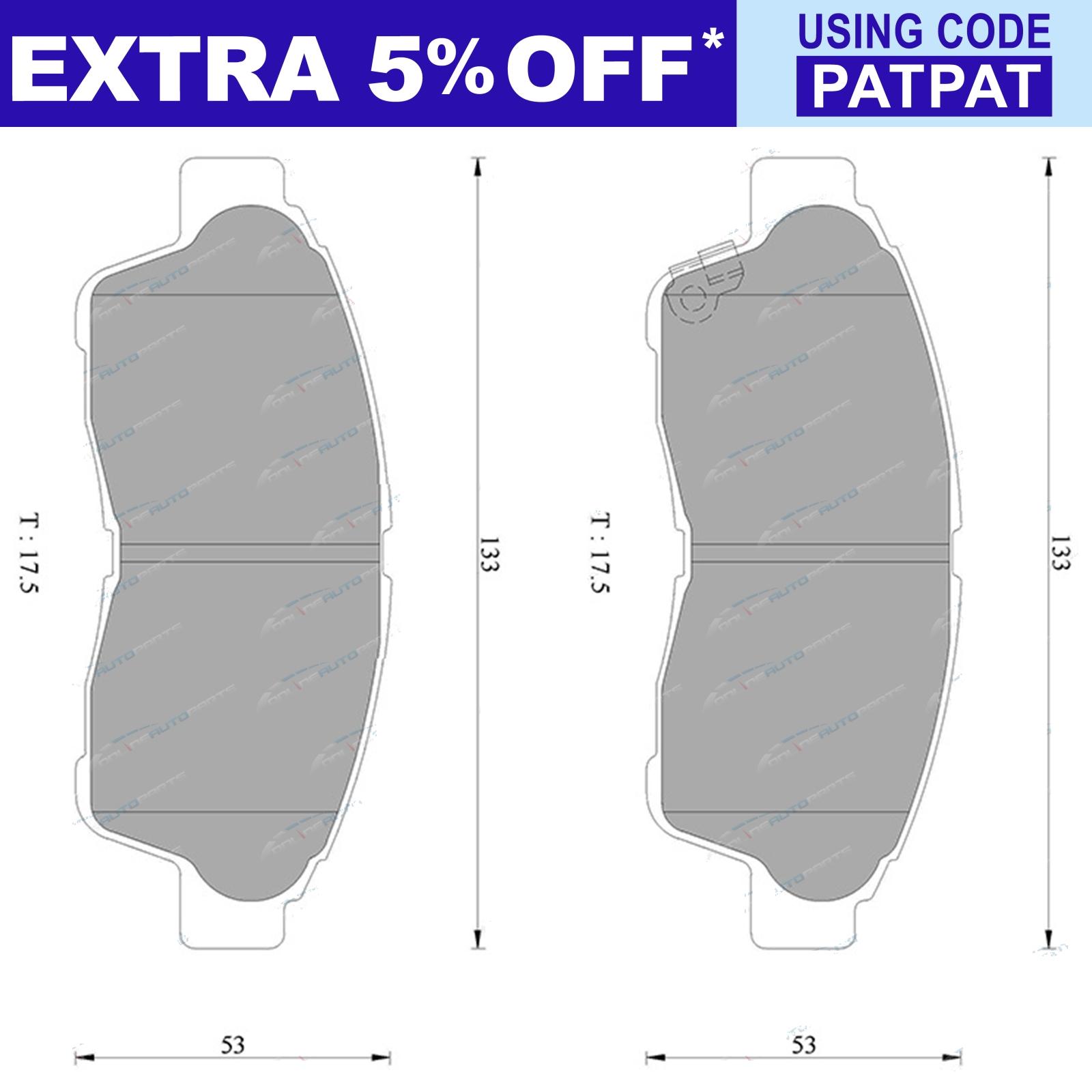 Front Disc Brake Pads Set suits Toyota Camry SDV10 SXV10 SXV20 93~02 Bosch