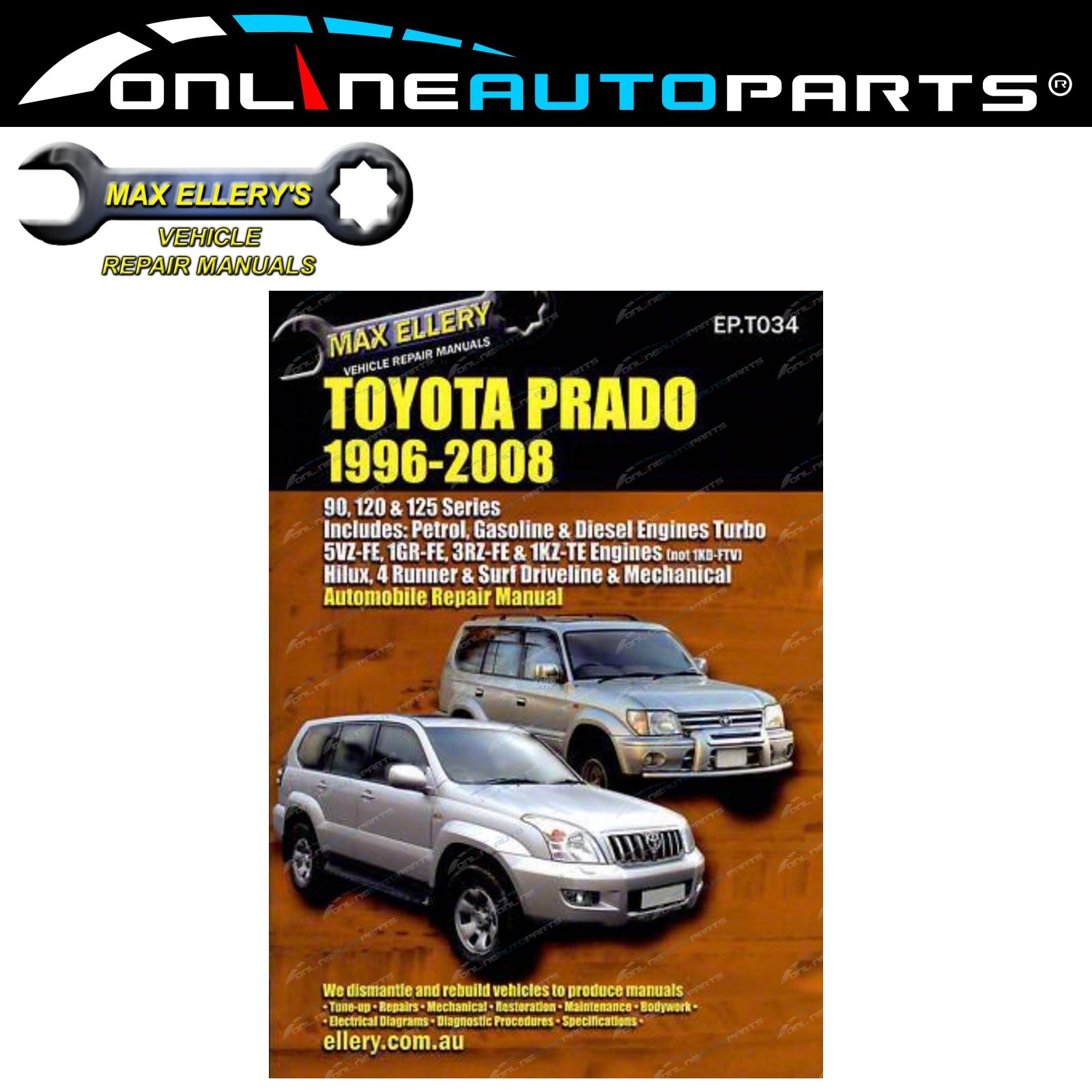 workshop repair manual suits toyota landcruiser prado 96 08 book rh ebay com au Toyota Land Cruiser Prado 2018 2000 Toyota Land Cruiser Prado