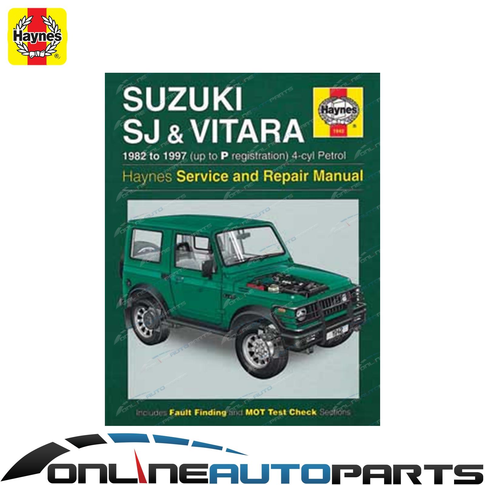 Haynes Car Repair Manual Book Sierra SJ40 SJ50 SJ70 SJ410 SJ413 1981-1996