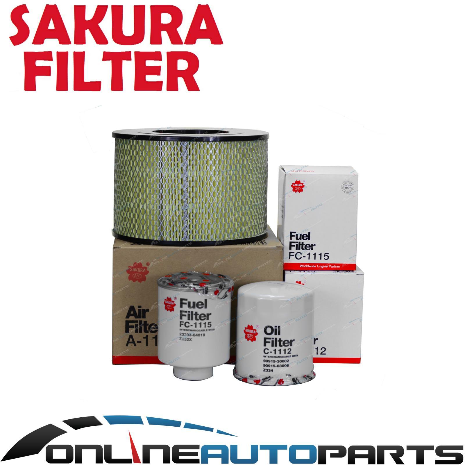 Air Oil Fuel Filter Service Kit Suits Toyota Diesel Hzj75 Hzj78 Engine Hzj79 Hzj80 1hz