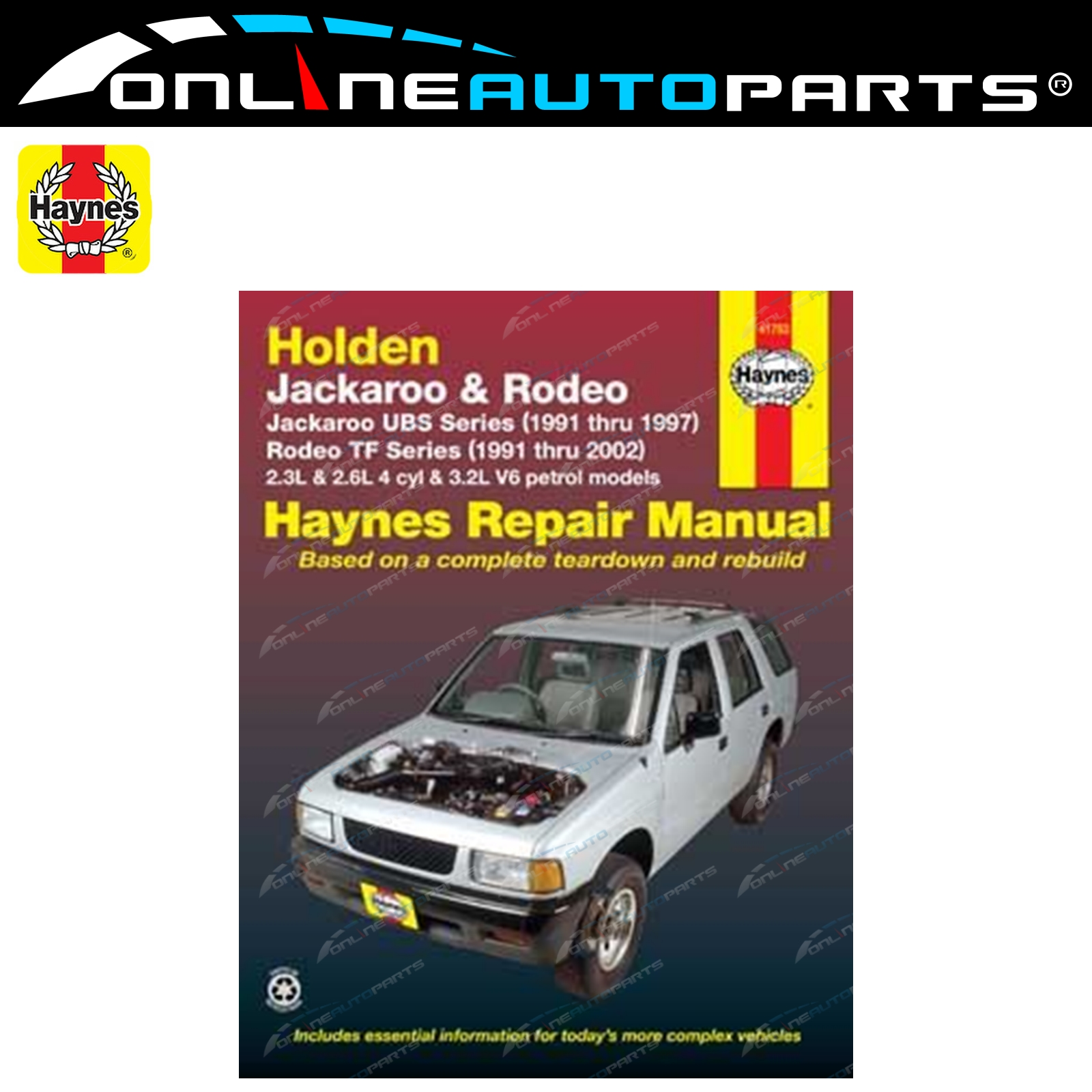 Haynes Car Repair Manual Book TF Rodeo TFR16 TFR17 TFR25 TFS17 TFS25  1991-2002