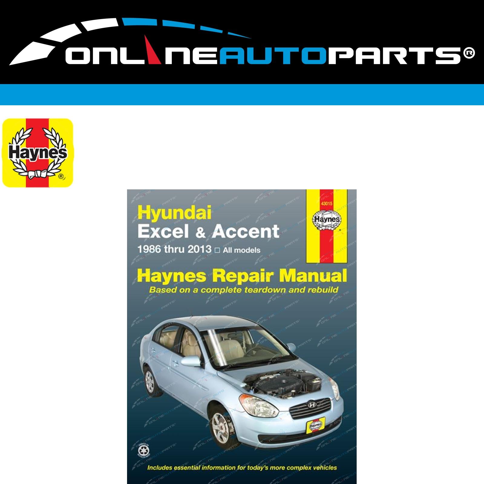 2002 Hyundai Accent Haynes Online Repair Manual-Select Access