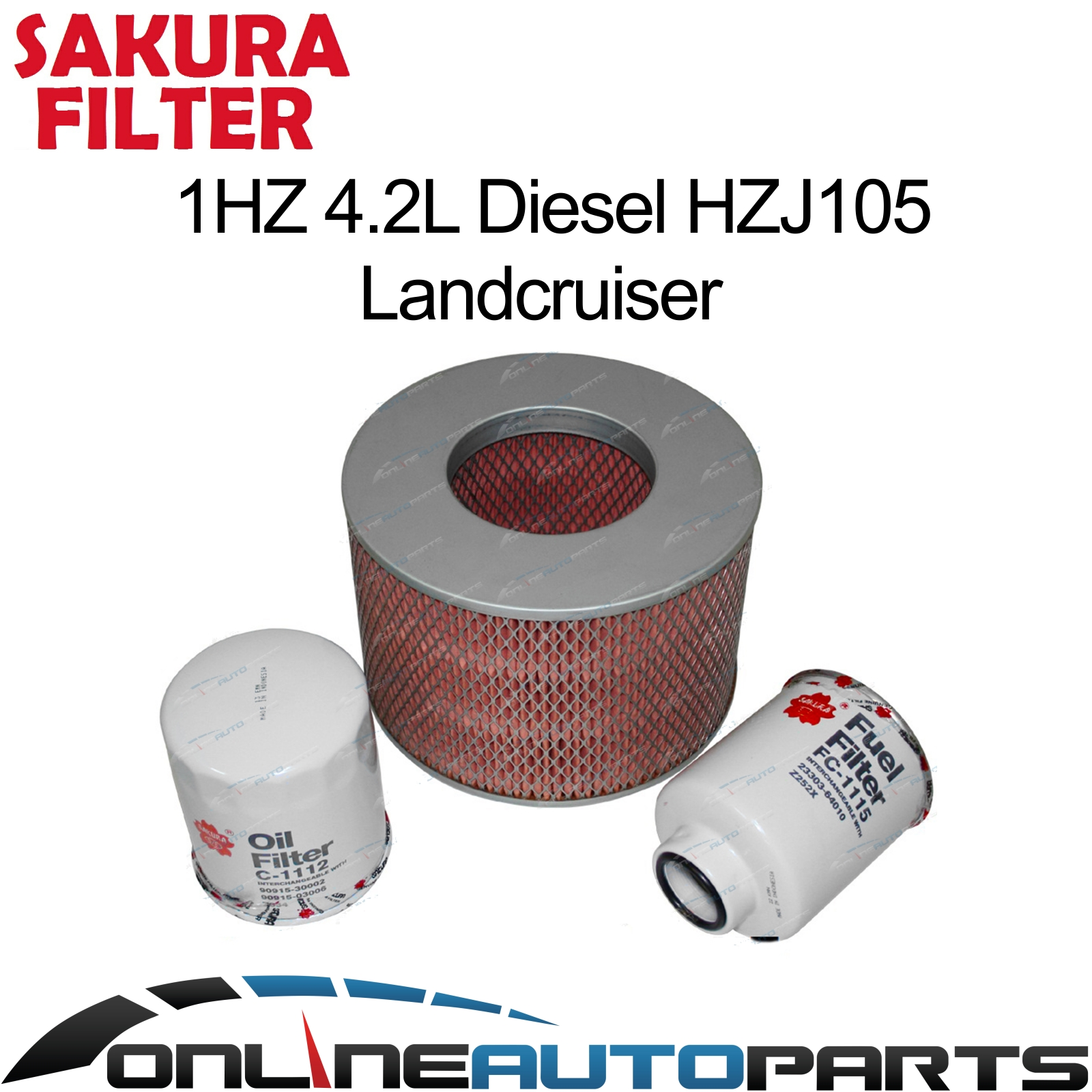 Engine Air Oil Fuel Filter Service Kit Suits Toyota Hzj105 1hz Filters For Diesel Engines 105 Series