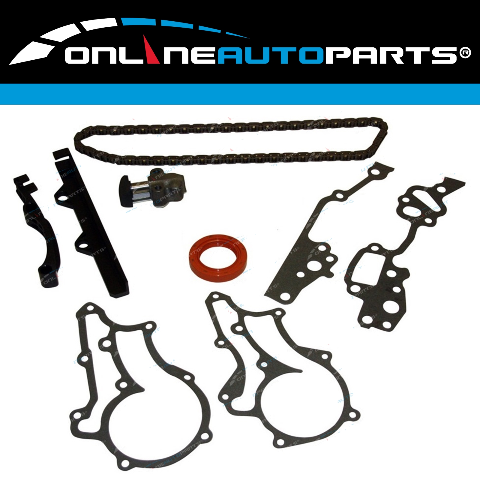 Engine Timing Chain Tensioner Gasket Seal + Guides Kit