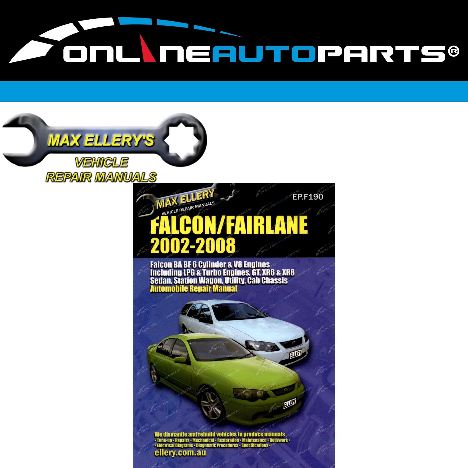 Details about Workshop Repair Manual Ford Falcon 2002-08 BA BF XR6 XR8  Fairmont Car Book New