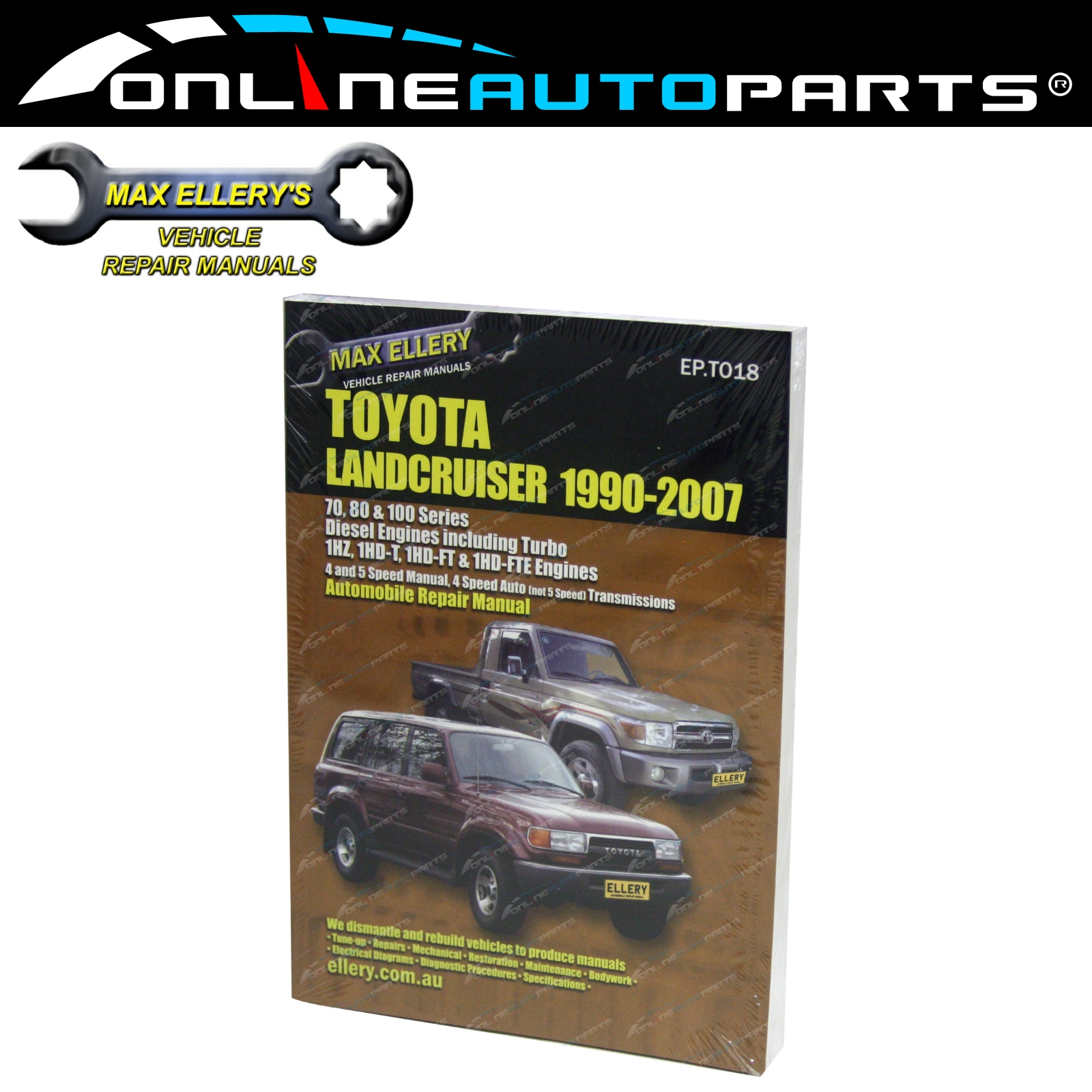 Workshop Repair Manual suits Landcruiser 80 100 Series Diesel 1HZ 1HDT  1HD-FT/E
