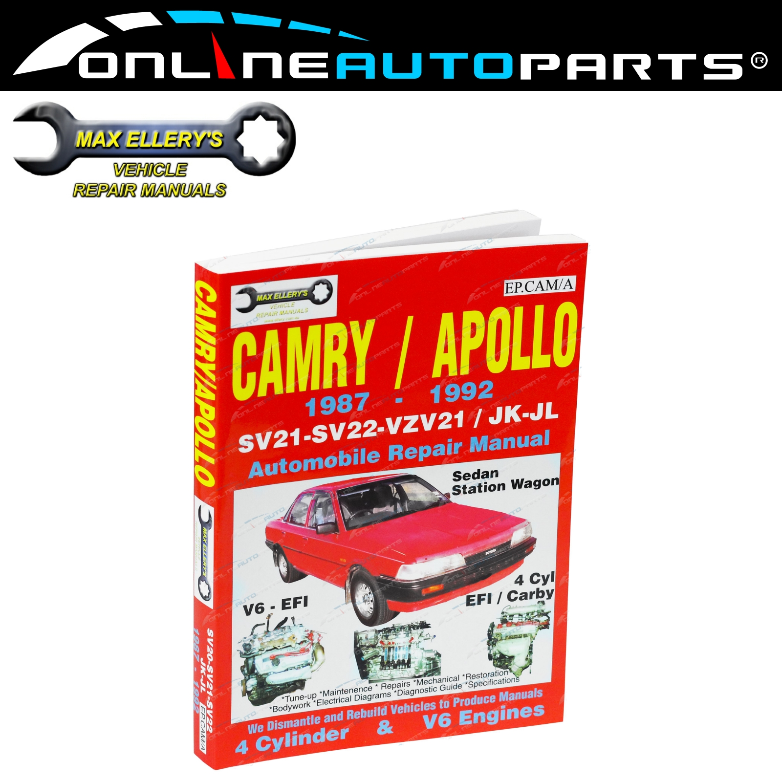 Workshop Car Repair Manual Camry SV21 SV22 VZN21 87-92 Book Mechanical  Service