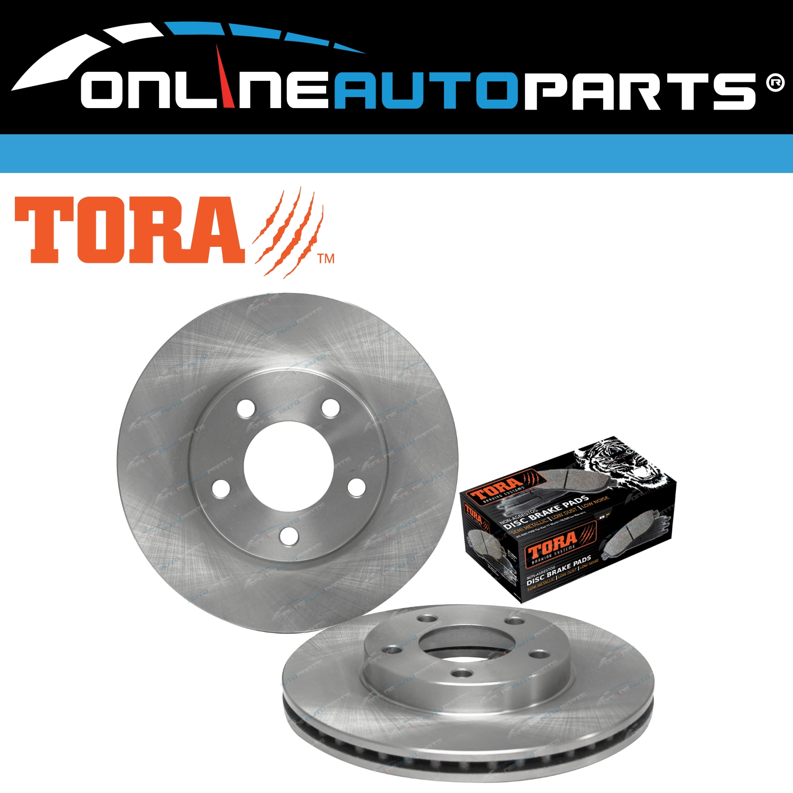 FRONT DISC BRAKE ROTORS PADS for Mazda Tribute All-Models 2001-2005 RDA7568