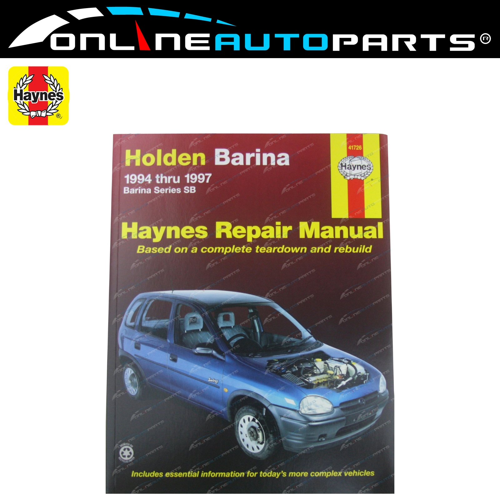 Haynes Car Repair Manual Book Holden Barina SB C12NZ C14NZ X16XE C16XE C14SE