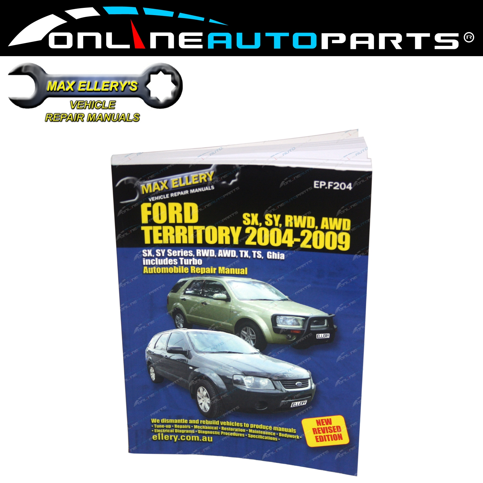 New Workshop Repair Manual Book Ford Territory 2004-2009 RWD AWD 4x4 SX SY  TS