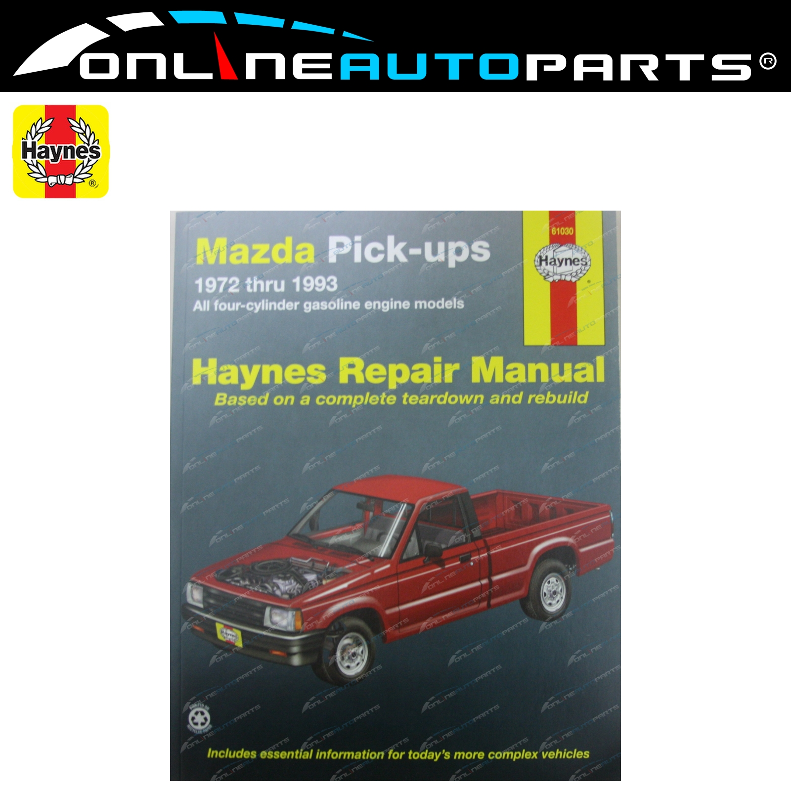 Haynes Car Repair Manual Book Mazda Pickup 1971-93 B1600 B1800 B2000 B2600  Ute