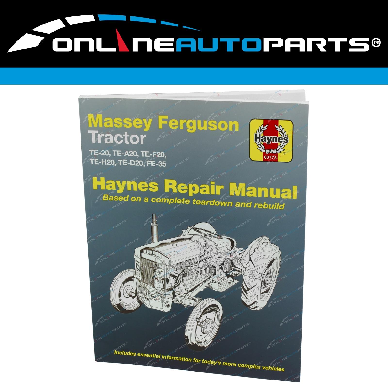 Gregory's Workshop Repair Manual Book Massey Ferguson Tractor TE20 TEA20  TEF20