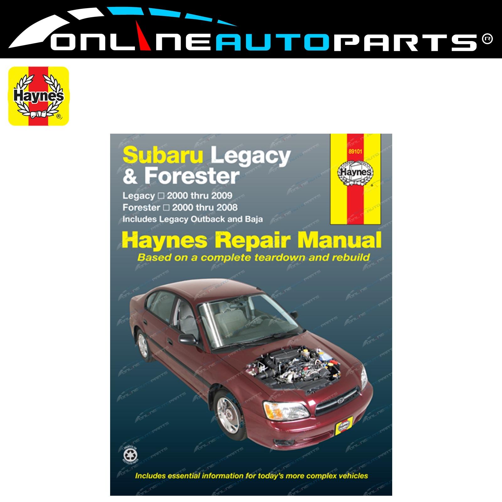 Haynes Car Repair Manual Book suits Subaru Outback BH BP 2000-2009 2.5L  Engine
