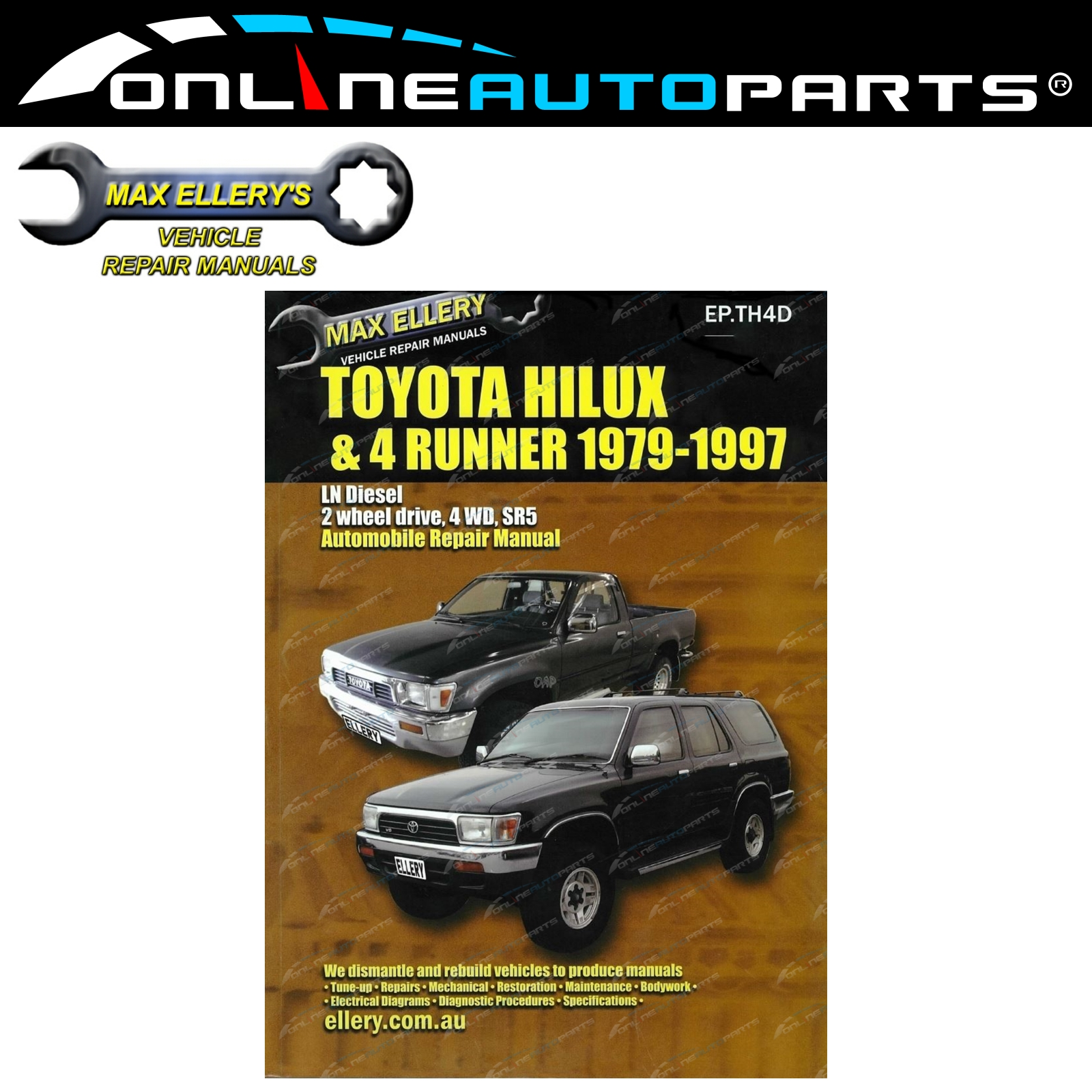 Workshop Repair Manual Book Suits Hilux 4x4 28l 3l Ln106 Ln107 Repairmanuals Toyota Pickup And Diesel 1982 Wiring Diagrams Ln111 Ln130