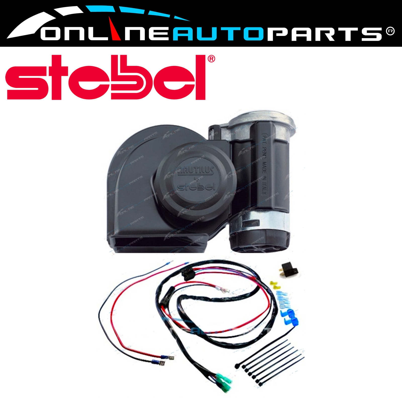 Details About Stebel Nautilus Air Horn Relay Wiring Kit Plugnplay Electric Plug N Play Car