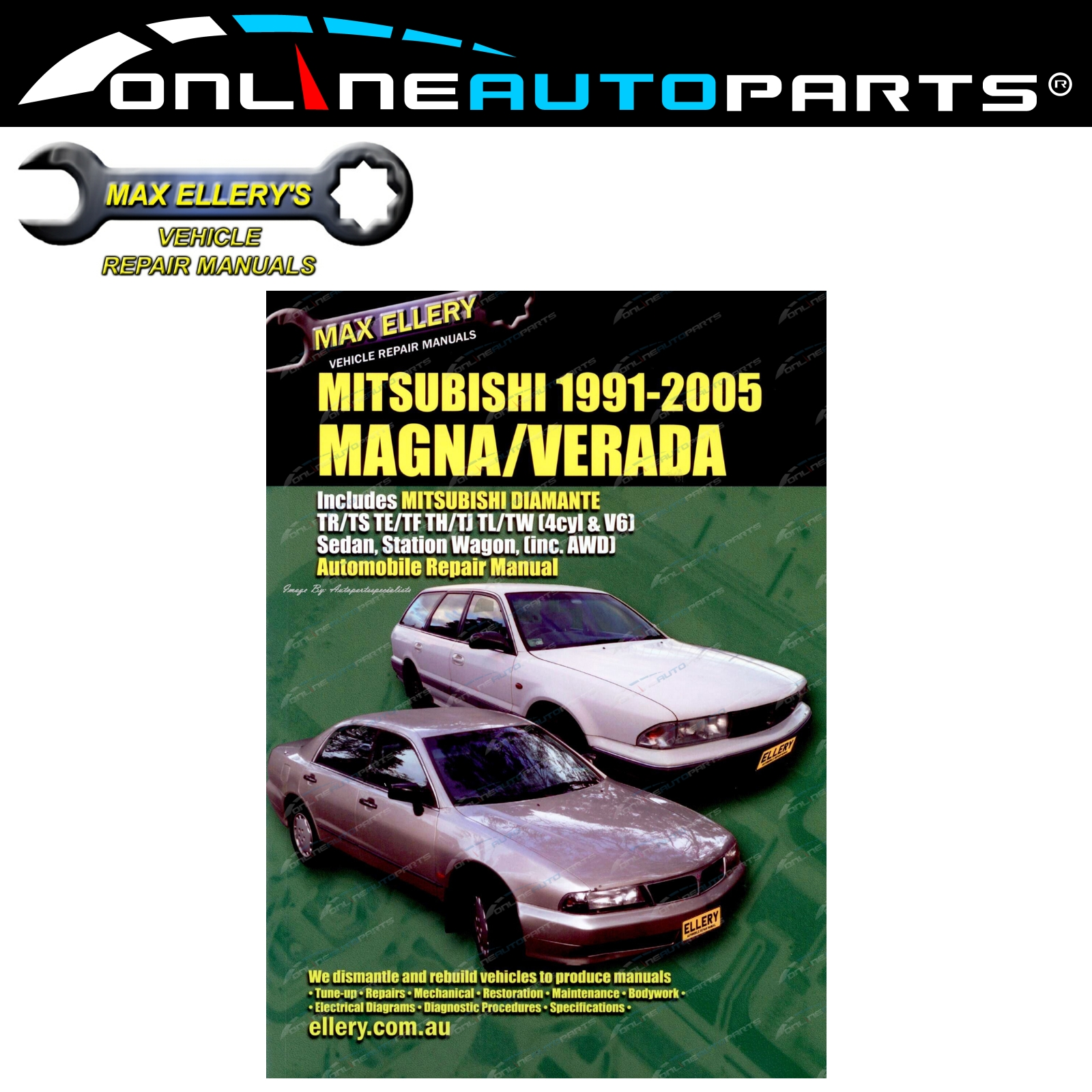 Workshop Repair Manual Mitsubishi Magna Verada 1991-05 TR TS TE TF TH TJ TL