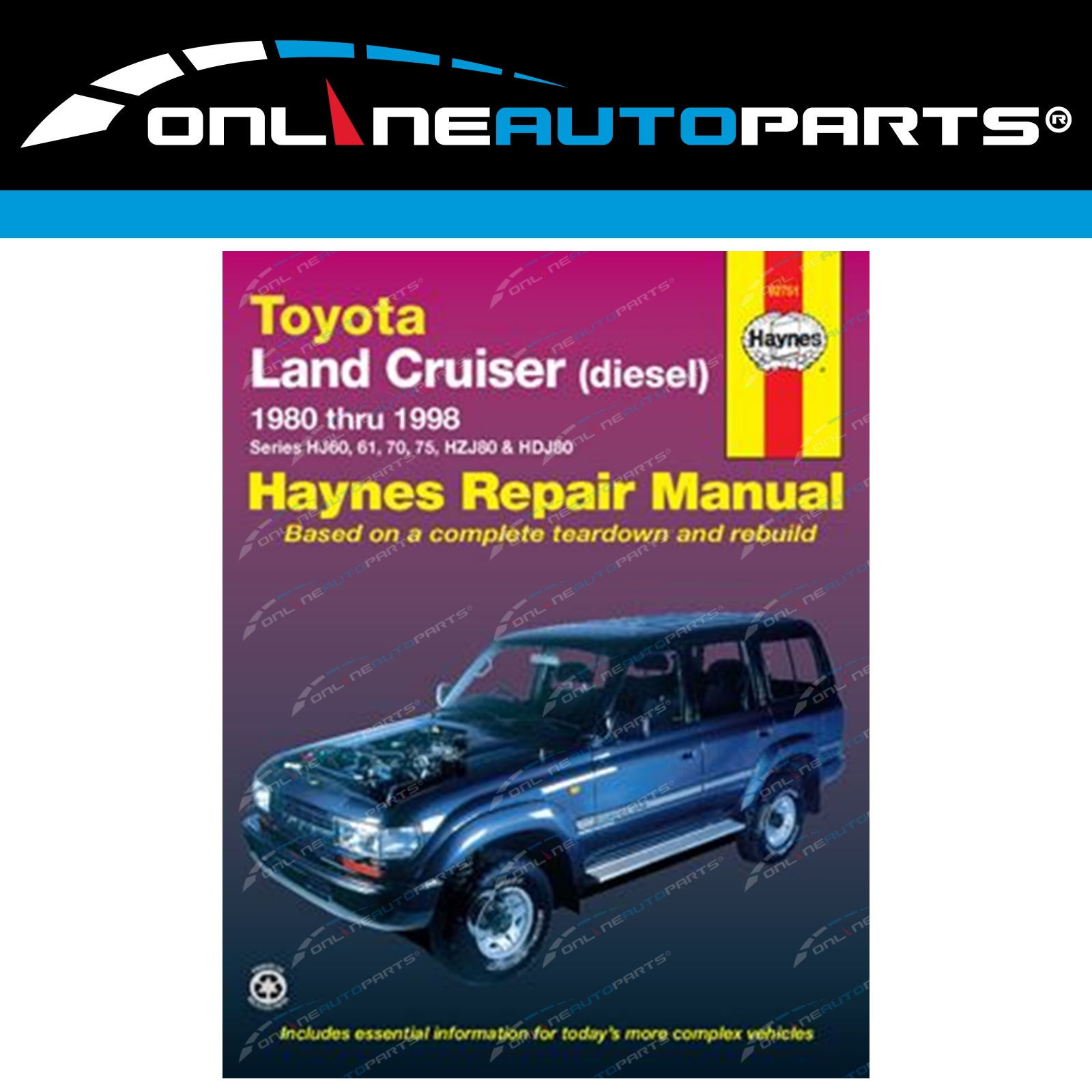 Haynes Workshop Repair Manual Book suits Landcruiser 60 + 80 Series Diesel  80~98