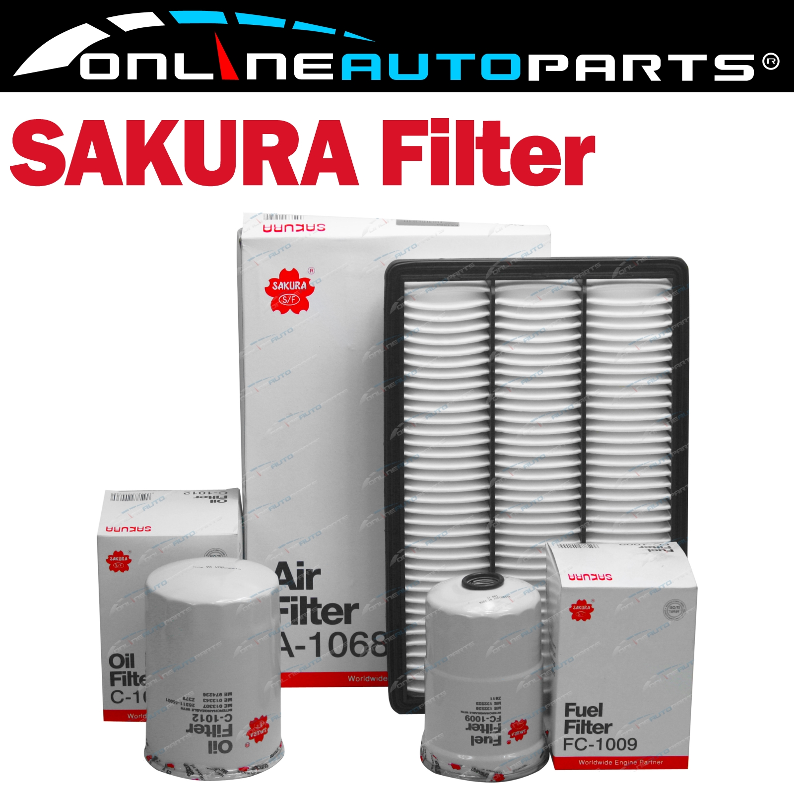 Air Oil Fuel Filter Service Kit for Pajero 4M41-T Turbo Diesel 3.2L NM