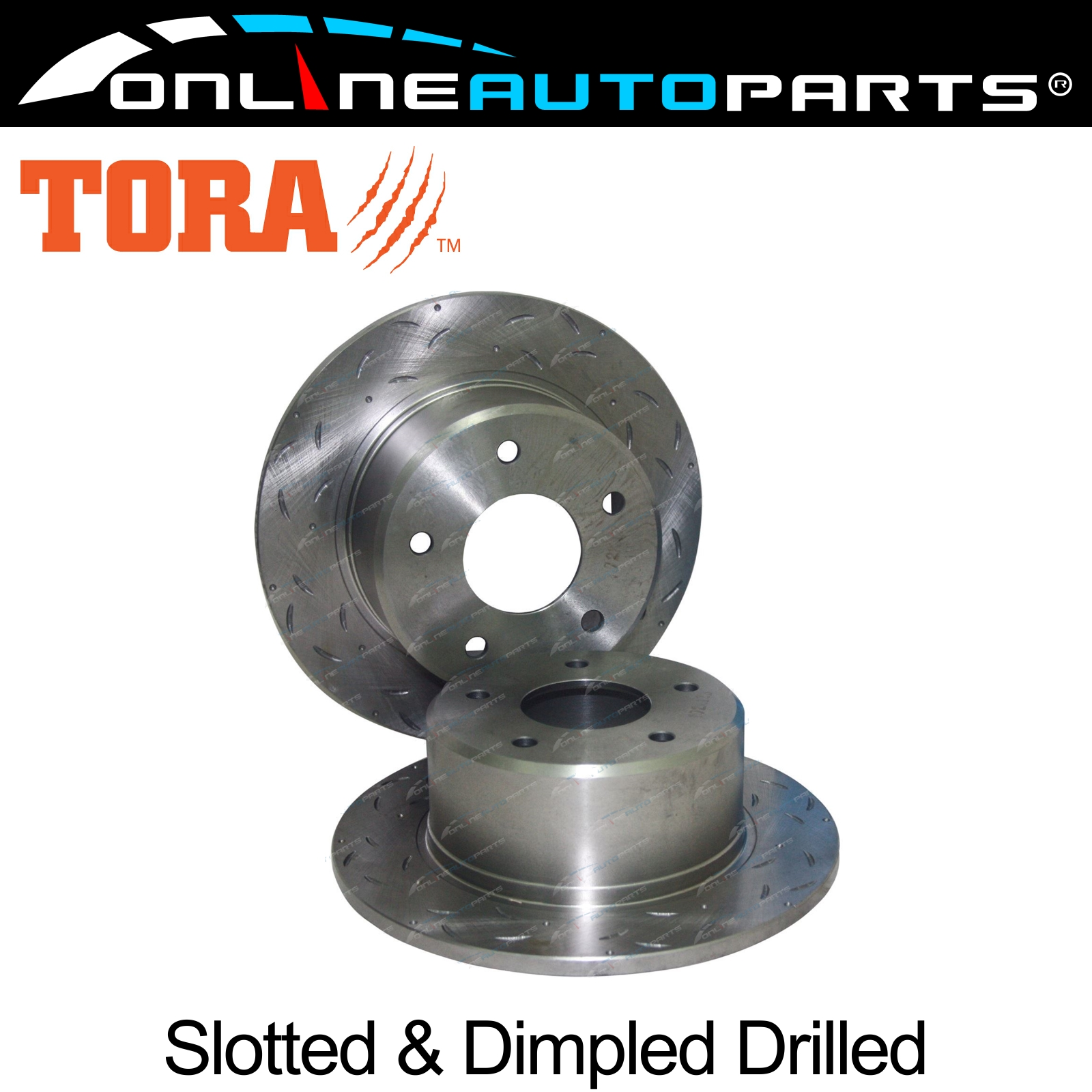 2-Rear-Disc-Brake-Rotors-Slotted-Drilled-Commodore-VR-VS-with-IRS-Statesman