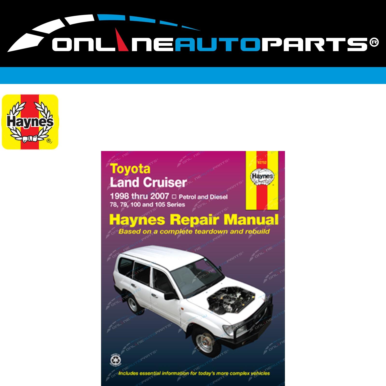Details about Haynes Car Repair Manual Book suits Landcruiser FZJ105 HDJ100  HZJ105 100 Series