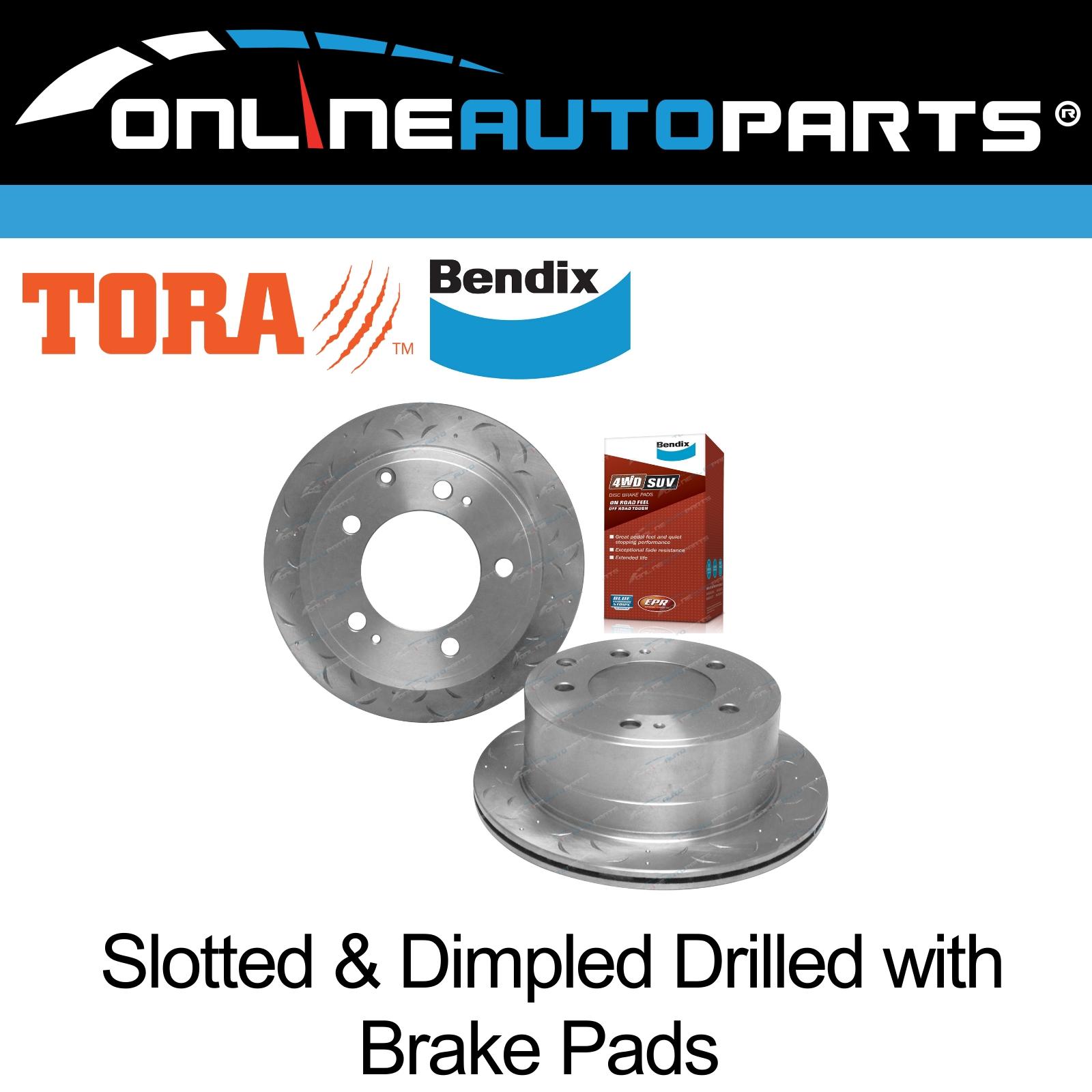 REAR LANDCRUISER VDJ76R BREMBO pads /& BREMAXX slotted disc brake rotors FRONT