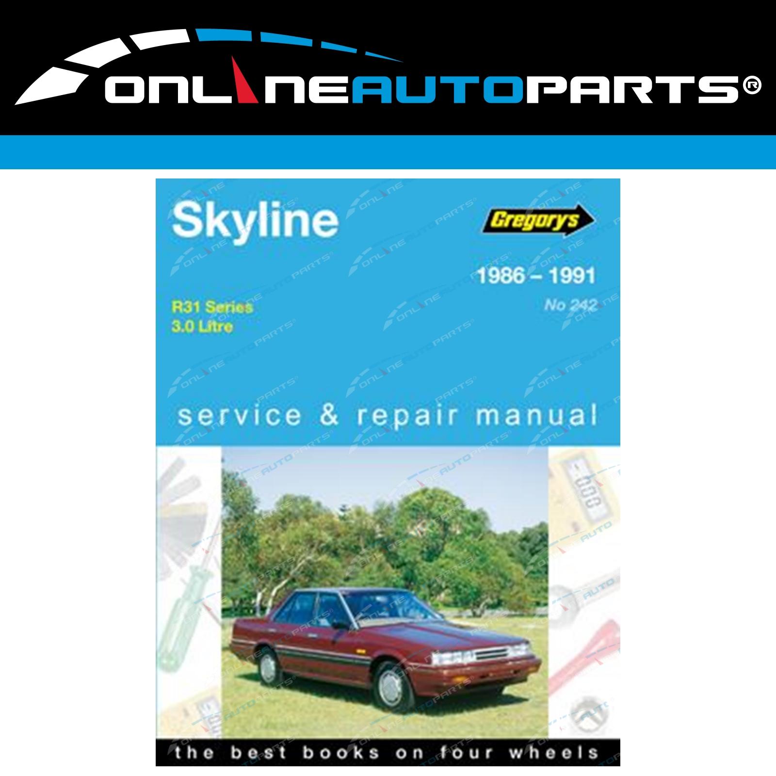 Gregory's Workshop Repair Manual Book for Nissan Skyline R31 3.0 RB30  1986~1991