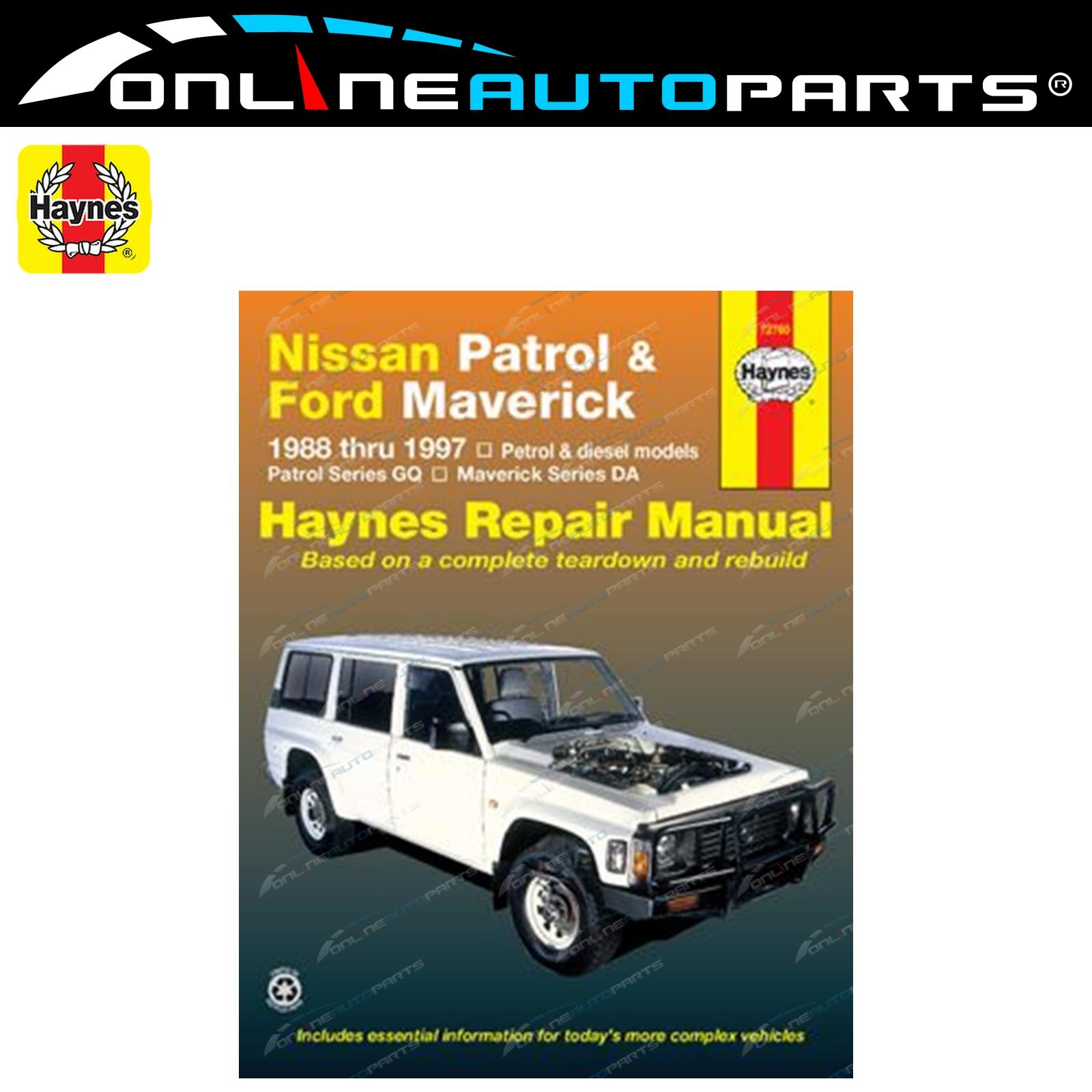 Haynes Car Repair Manual Book for Nissan Patrol GQ GR Y60 Petrol + Diesel  Engine