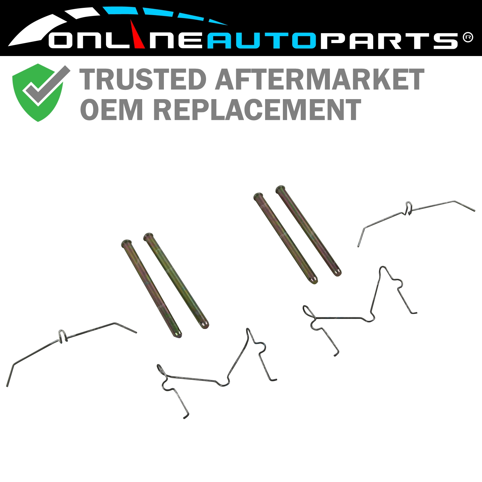 Front Disc Brake Caliper Support Spring Set: Front Disc Brake Caliper Pin + Spring Kit Suits Toyota
