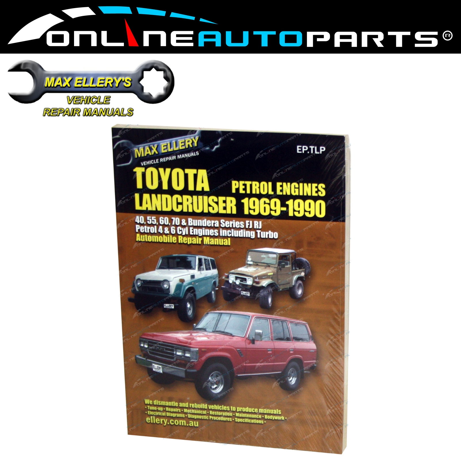 Workshop Manual 69~1/90 suits Landcruiser 40 60 70 Series Petrol Repair Book