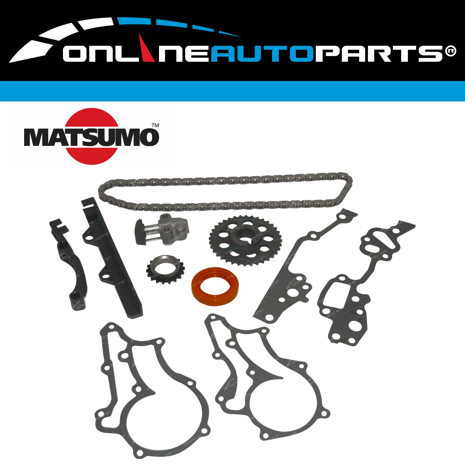 Details about Timing Chain Tensioner Gears Guides Kit suits Landcruiser  Bundera RJ70 22R 22RE