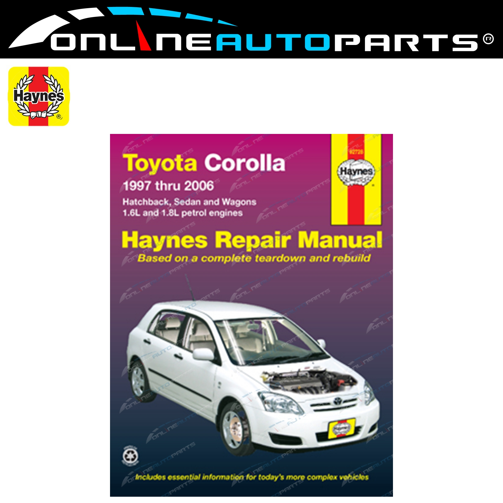 Haynes Car Repair Manual Book Corolla AE101R AE102R AE112R ZZE122R 1997-2007