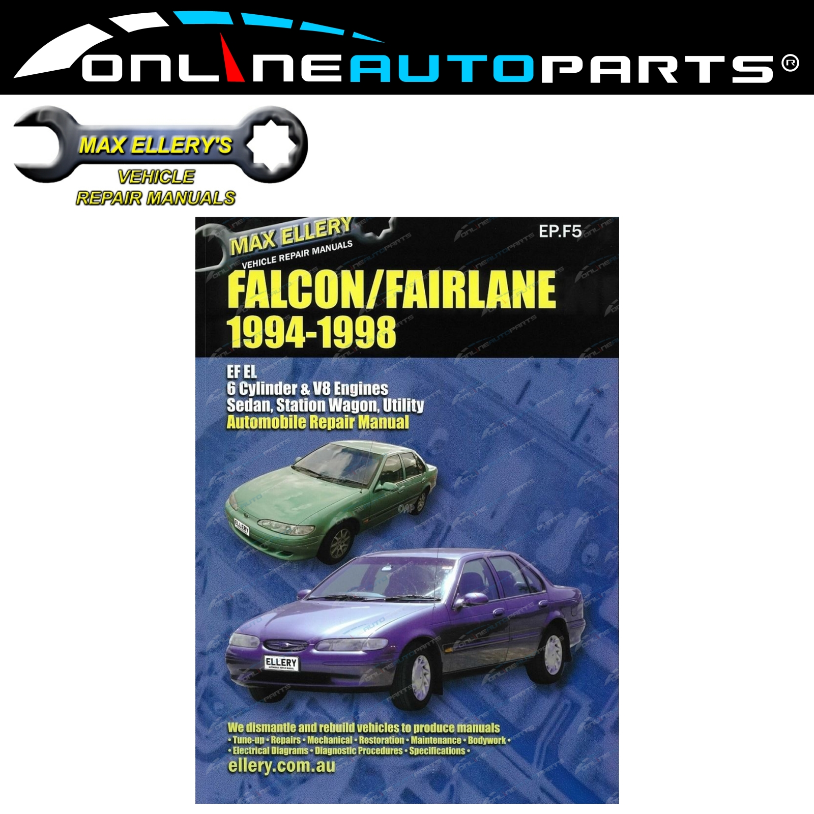 Workshop Manual Ford Falcon Ef El Fairlane Nf Nl 94 98 Ltd Fairmont Wiring Diagram Repair Book