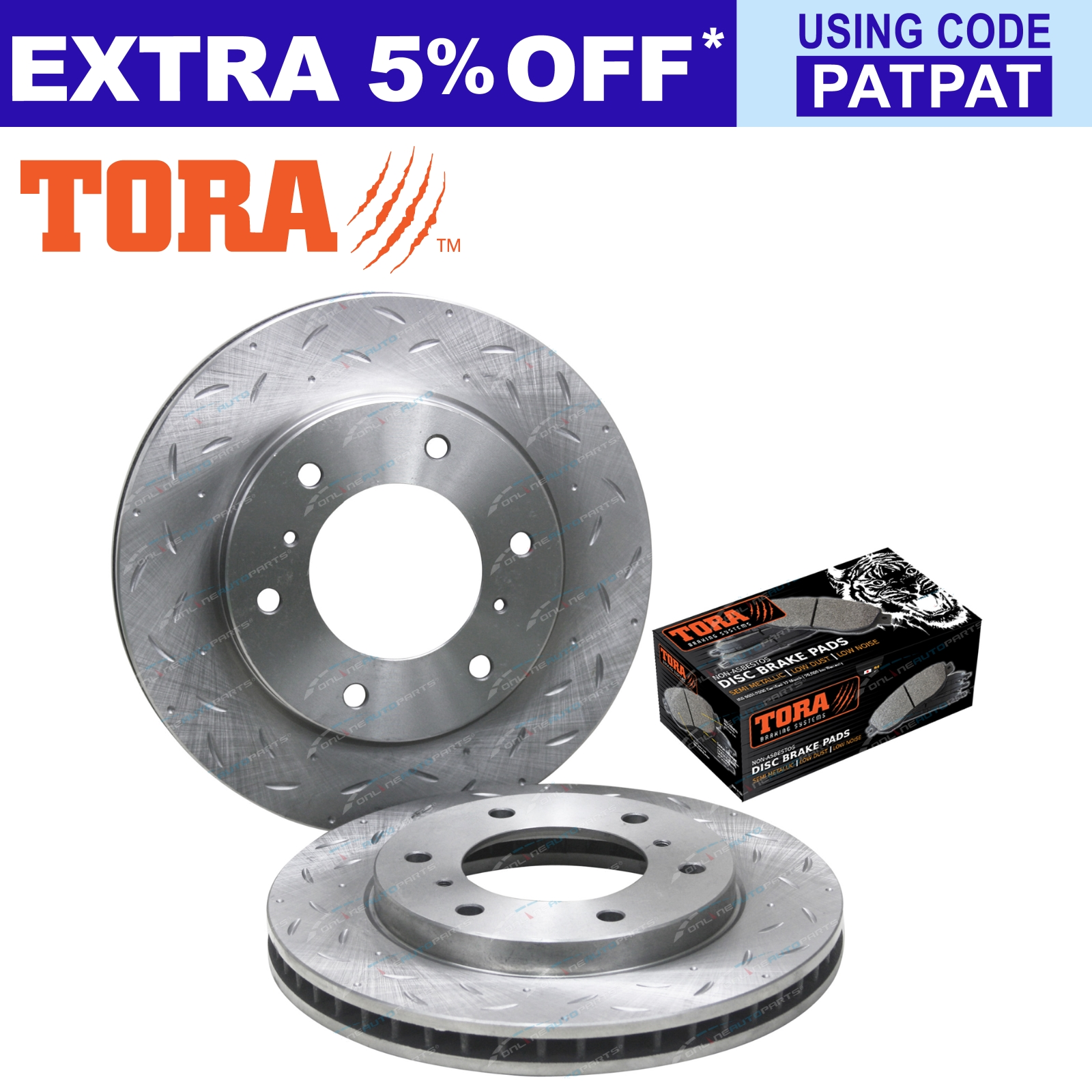 Front-Slotted-Dimple-Drilled-Disc-Brake-Rotors-Pads-for-Triton-ML-MN-MQ-07-18
