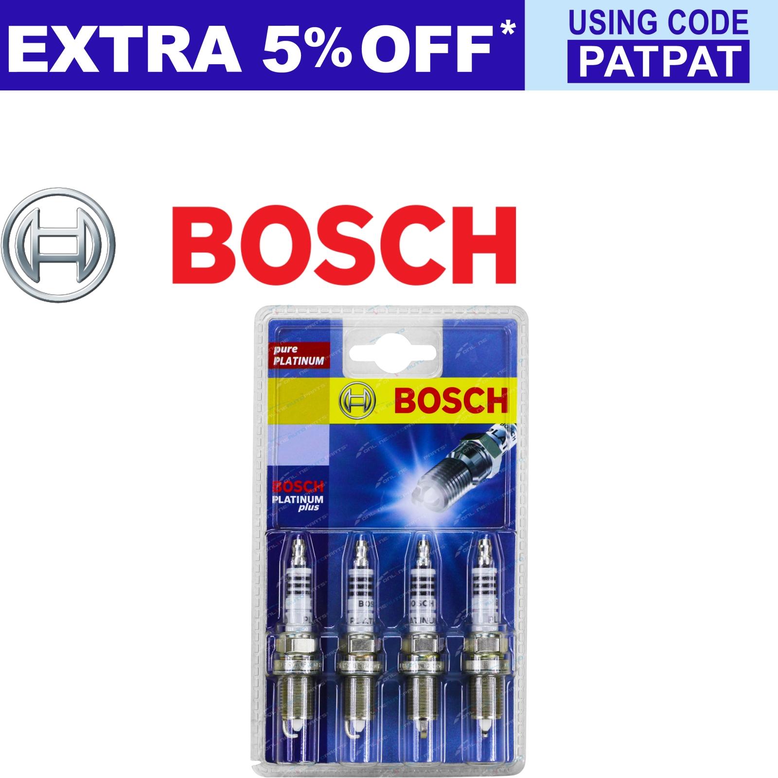 Set-of-4-Bosch-Platinum-Spark-Plugs-for-Mazda-6-GG-Hatch-4cy-L3-2-3L-2002-2-2005