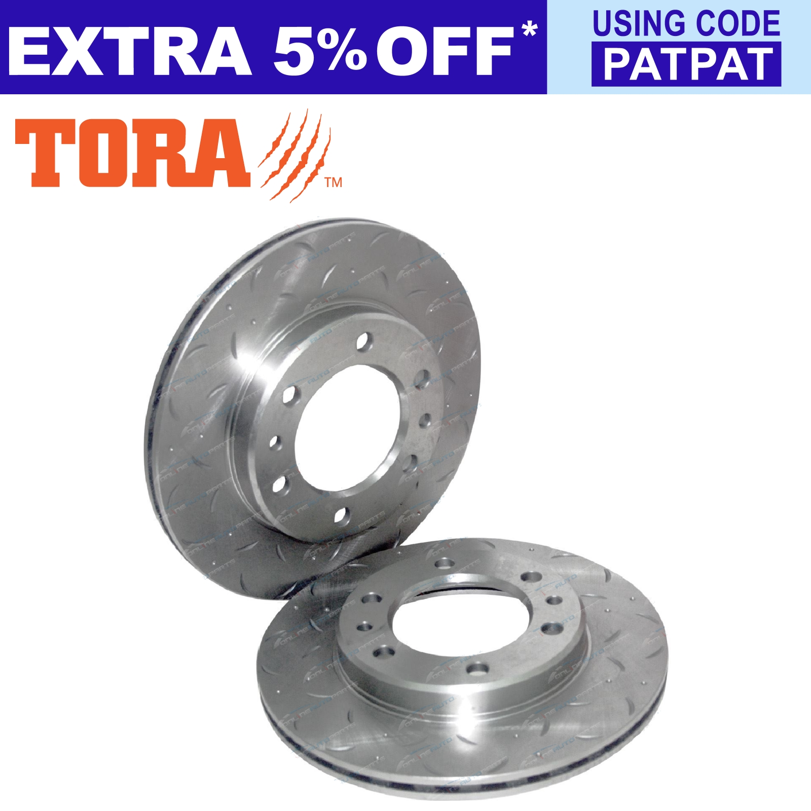 2-Drilled-Slotted-Front-Disc-Brake-Rotors-Hilux-89-99-4x4-LN106-RN105-YN106-Pair