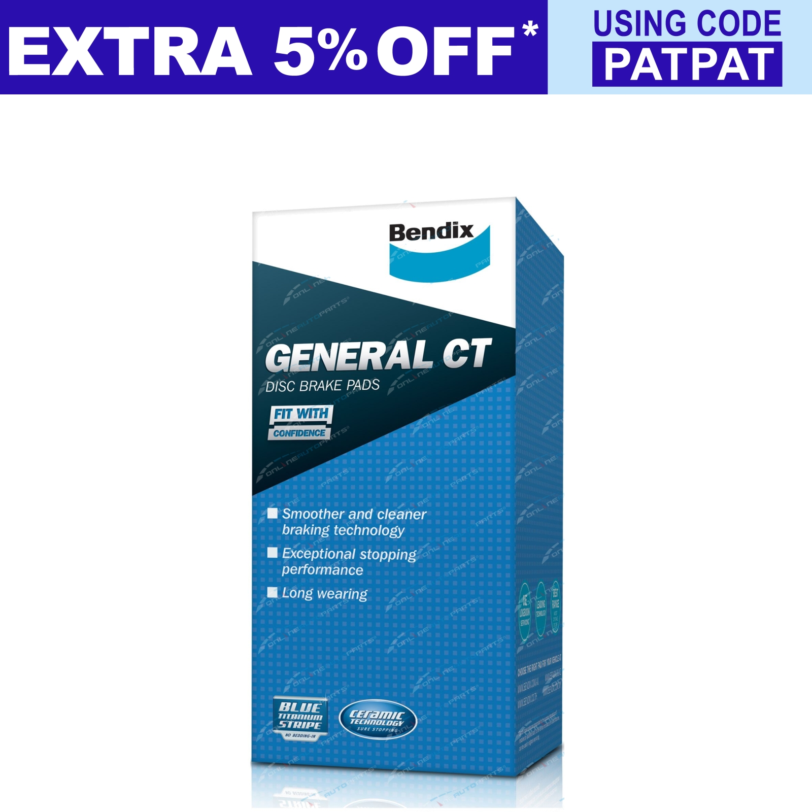 1 set x Bendix General CT Brake Pad DB1204GCT