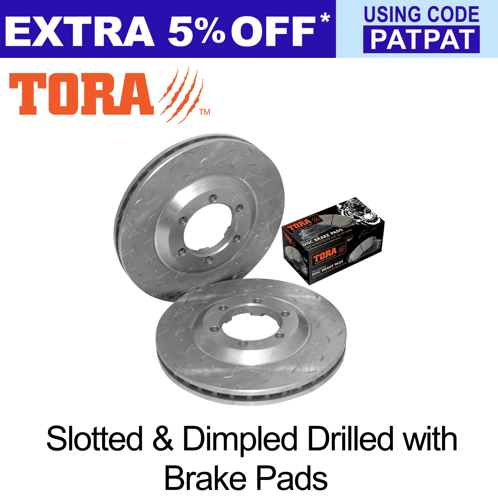 2-Front-Disc-Rotors-Brake-Pads-Holden-Rodeo-RA-2003-2008-4X4-Ute