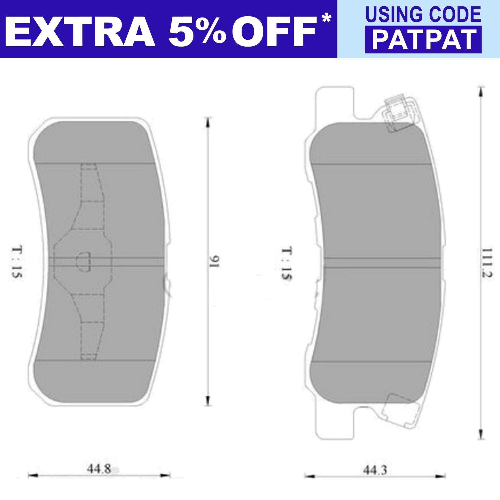 Bosch-Rear-Disc-Brake-Pad-Set-Mitsubishi-Pajero-NM-NP-2000-2006-Wagon thumbnail 2