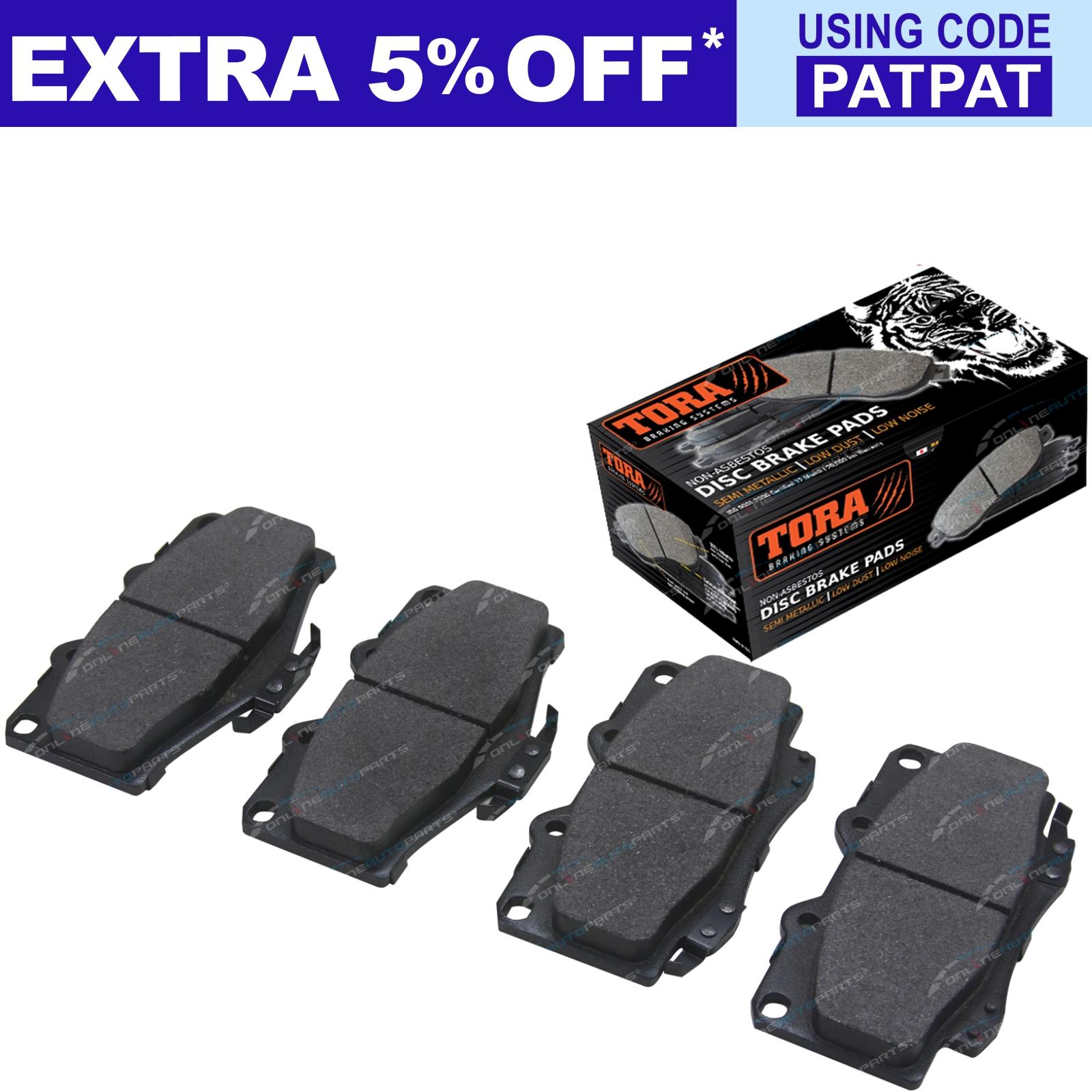 2-Front-Disc-Rotors-Brake-Pad-Set-suits-Landcruiser-1990-1999-70-75-Series-4x4 thumbnail 3