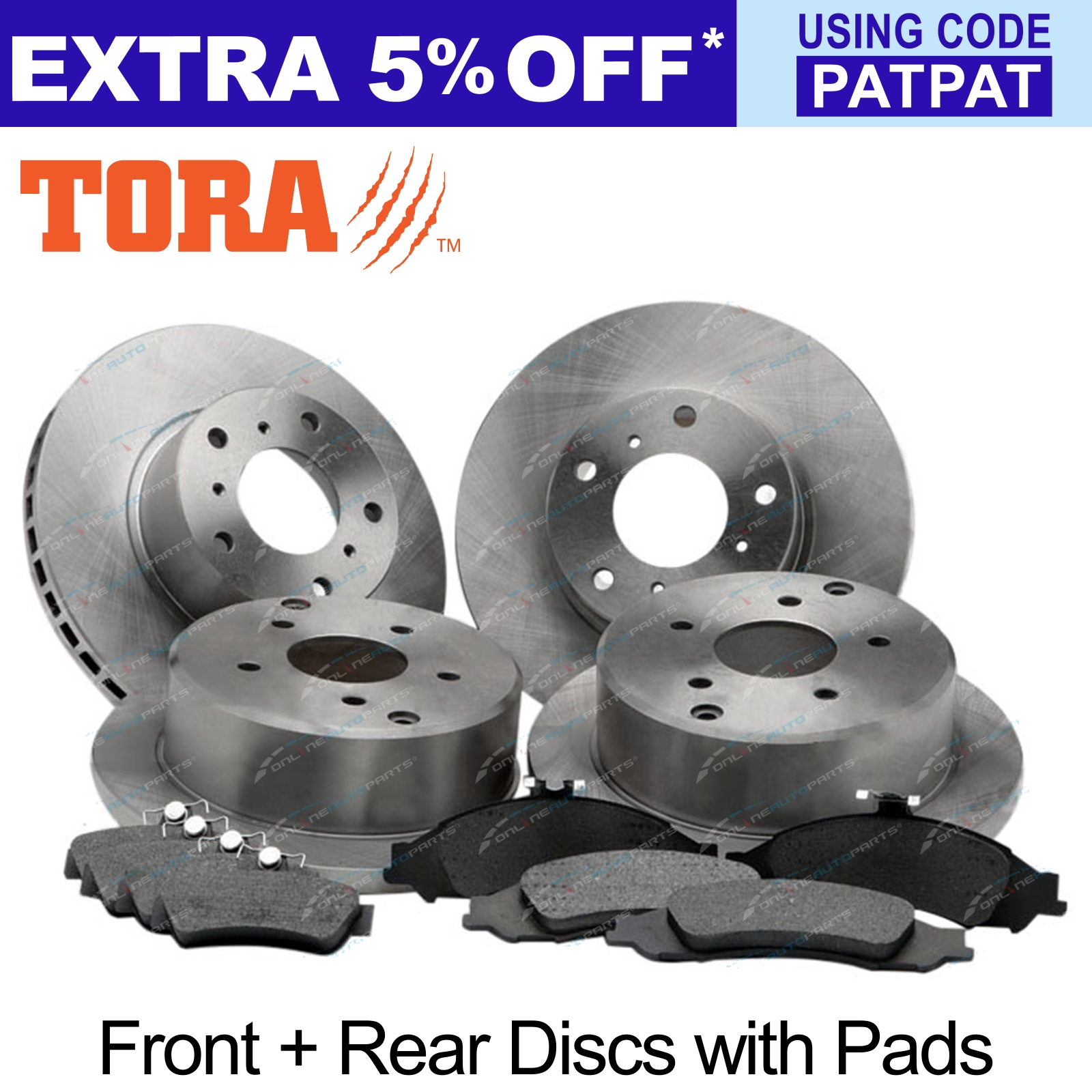 4-Front-Rear-Disc-Rotors-Brake-Pads-Pack-Commodore-VT-VX-VY-VZ-1997-2007-Holden