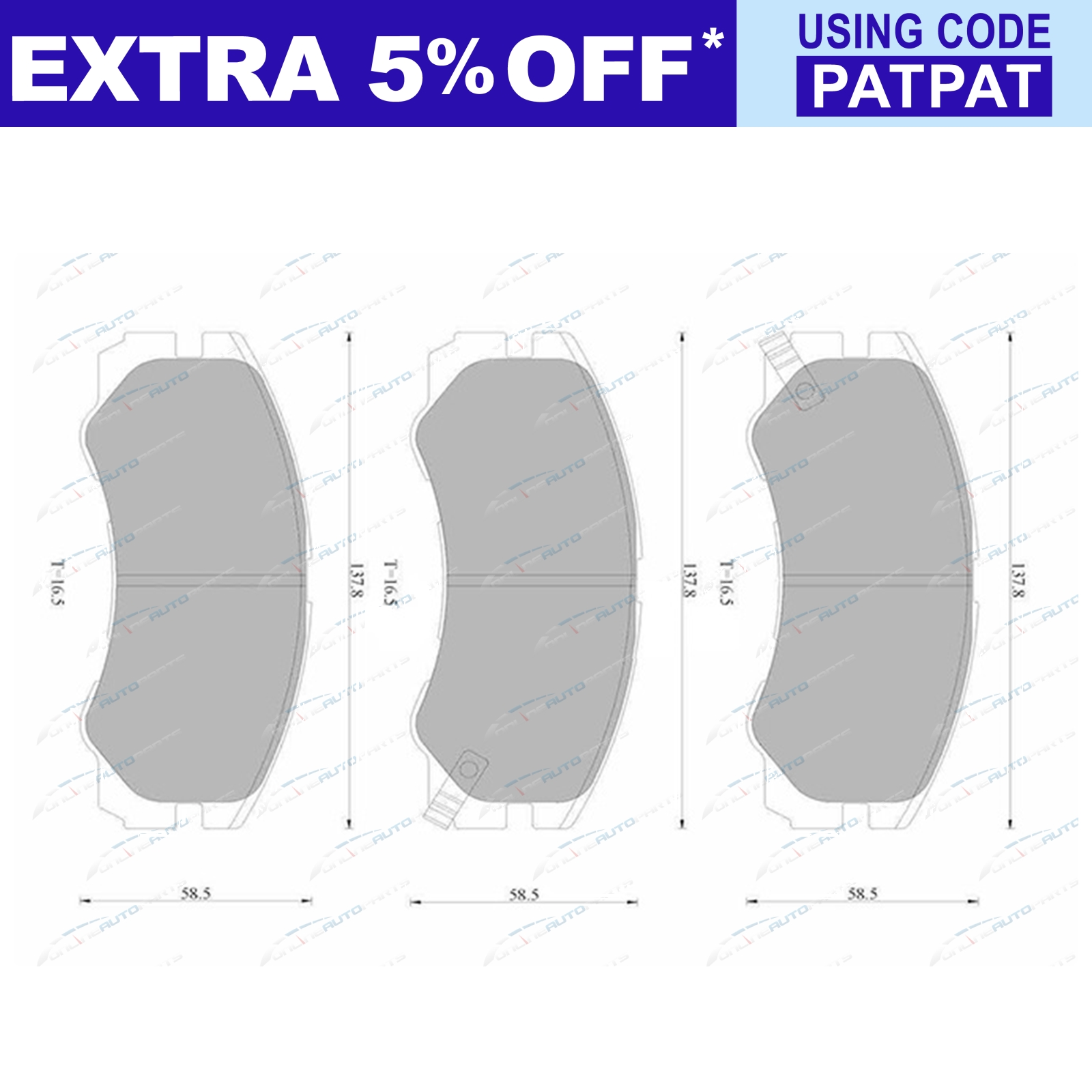 Front-Disc-Brake-Pads-Set-suits-Holden-Rodeo-T4x4-FS25-TFS55-1990-to-2003 thumbnail 3