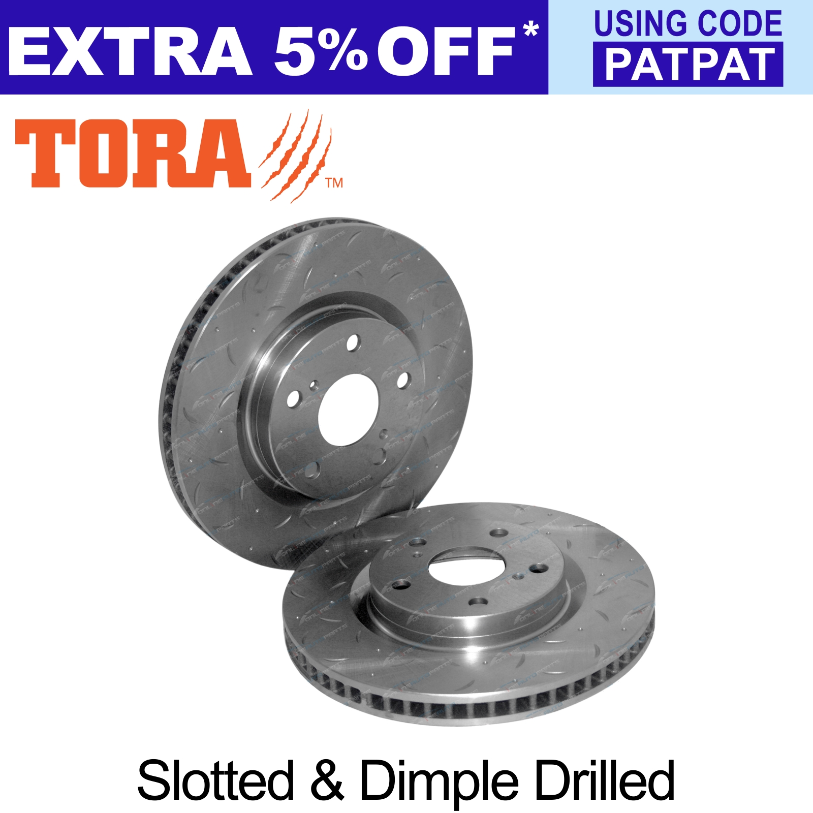 2-Front-Drilled-Slotted-Disc-Brake-Rotors-suits-Toyota-Camry-ACV40-AHV40-06-17